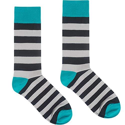 Thin Stripe Socks (Herren Baumwollsocken Frühling und Herbst Thin Tide Tube Socken Pop Stripes Hit Color Socks Lässig Bequem (Farbe : Black and White Stripe))