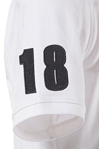 JP 1880 Große Größen Herren Poloshirt Weiß