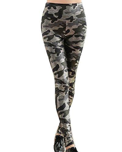 Leggins Camuflaje Mujer Pantalon Impresas Leggins Slim Fit Pantalones Legging Pantalones Elásticos Camuflaje Talla única