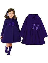 Hawkimin Baby Mädchen Winter warme Prinzessin Mode Mantel Einfarbig Starke Warme Kleidung für Kinder Kleinkind Baby Mädchen