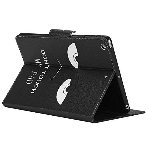 Flip Cuir Coque pour IPad Air(iPad 5) Tablette Coque,Vandot Ultra Slim Léger Smart Cover IPad Air(iPad 5) Cuir Case avec Support et fermeture magnétique et Carte Slots Housse Etui + IPhones et Android Tablet-œil