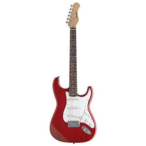 Stagg S300-TR - Guitarra eléctrica, color rojo