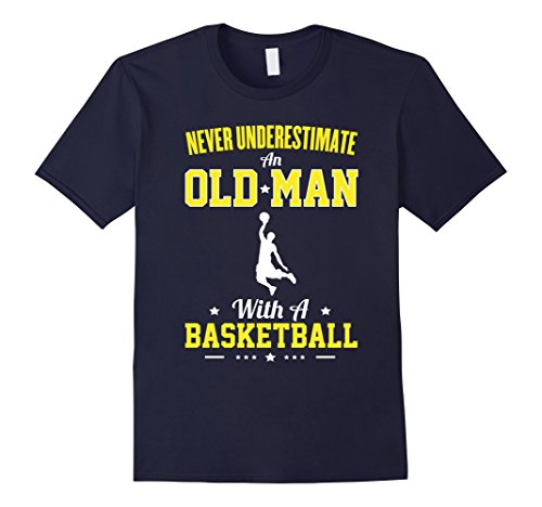 mens-never-underestimate-an-old-man-with-a-basketball-t-shirt-herren-gre-xl-navy