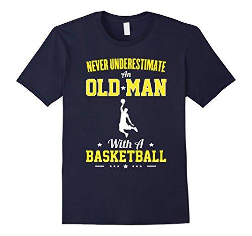 mens-never-underestimate-an-old-man-with-a-basketball-t-shirt-herren-grosse-xl-navy