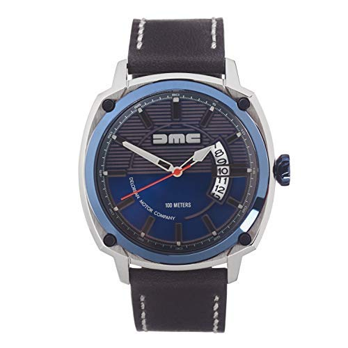 DMC DeLorean - Reloj de pulsera alfa para hombre | DeLorean Motor Company | Caja de acero inoxidable...