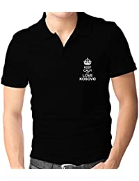 Teeburon Keep calm and love Kosovo Polo Camisa