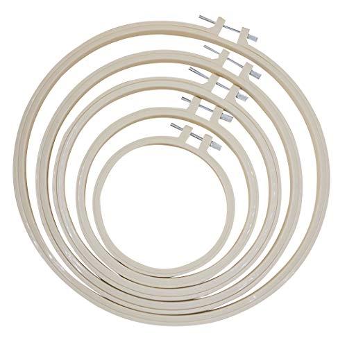 Joyibay 5 StÜcke Stickrahmen Kreative Kunststoff Stickerei Ring Kreuzstich Hoop für DIY
