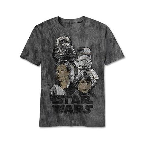 Star Wars Get At Me Charcoal River Wash T-Shirt | 2XL