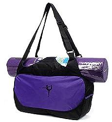 Runzone Yogatasche,Yogibag, Yoga-Einkaufstasche, lila