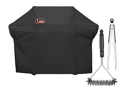 Kingkong Black 7108Premium Grill Cover für Weber Summit 400-series Gasgrills (im Vergleich zu den Weber 7108Grill Cover) inkl. Grill Bürste und Zange -