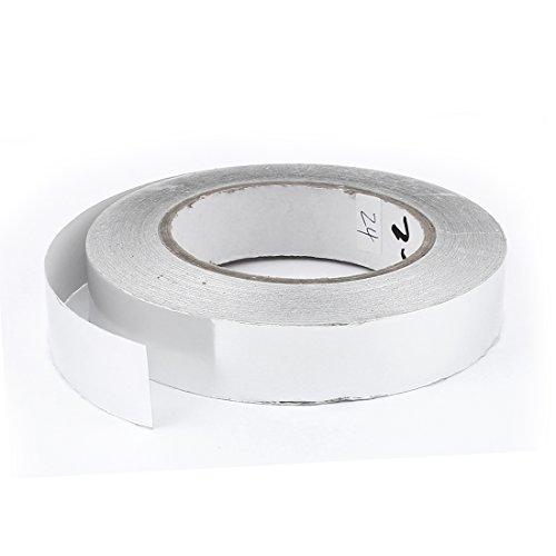 Sourcingmap® 25mm x 50m Rolle Aluminium-Heizung Kabelkanal selbstklebend Dichtungsband