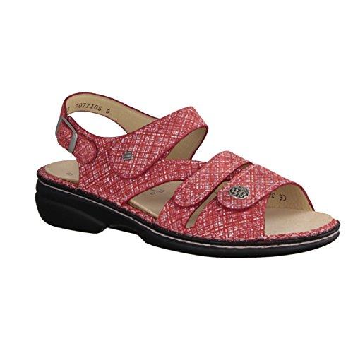 Finn Comfort Gomera - Damenschuhe Sandale bequem / lose Einlage, Rot, leder (mirage) Rot