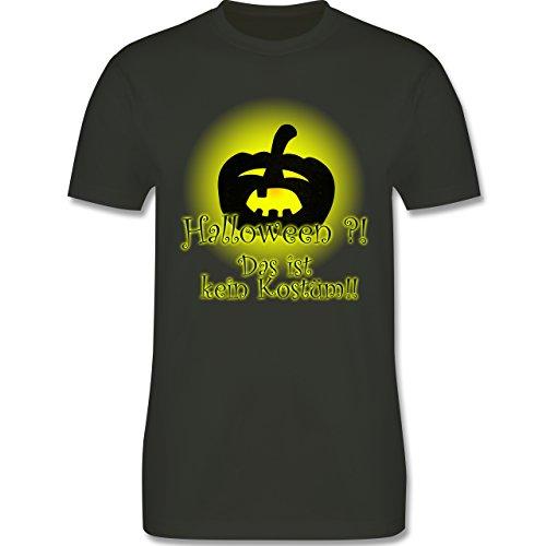 Halloween - Kein Halloweenkostüm - Herren Premium T-Shirt Army Grün