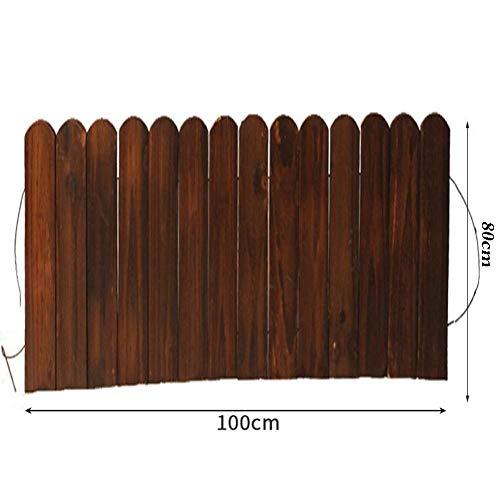 JIANFEI-weilan Holz Zaun Gartentor Gartenzaun Steckzaun Blumenbeetkante Rahmen Pflanzen Außendekoration Wasserdicht, 8 Größen Unterstützung Anpassung (Color : Brown, Size : 100x80cm)