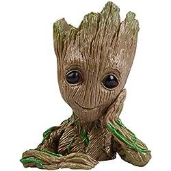 IzyDeal Maceta Figura Baby Groot, Idea Regalo Decoración Original y Práctica para Niños como para Mayor + Garantía Vendedor