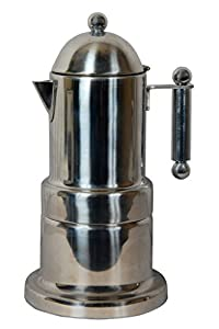 City Tea & Coffee Moka Pot Percolater 4 cup coffee maker ( silver )