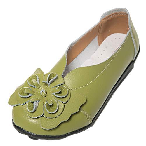 Dorical Damen Mädchen Erbsen Schuhe Casual Flach Schuhe Gartenschuhe Kunstleder Slip on Komfortable Schuhe Weich Leichte Bequem Rutschfest Freizeitschuhe Halbschuhe ()
