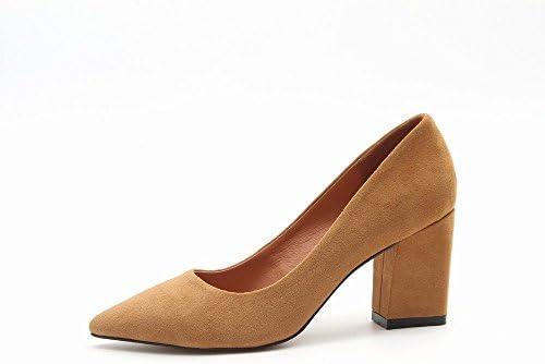 CXY Use Zapatos de Tacón Alto Zapatos de Moda Bromista Zapatos de Boca Poco Profunda, do,36