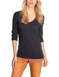 Comma CI Damen Pullover 80.899.61.1672 LANGARM, V-Ausschnitt Regular Fit