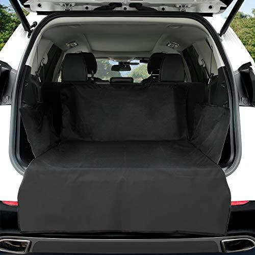KYG Kofferraumschutz Hunde Universal Kofferraummatte mit Seitenschutz Wasserdicht Hundedecke Kofferraumschutzmatte für jedes Auto-Kofferraum mit hochwertig Robustem Material 183 * 104 * 33
