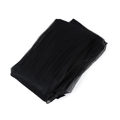 Toogoo(r) tenda zanzariera anti zanzare per porte con velcro adesivo 100 x 210 cm - tenda zanzariera magnetica per porte con calamita (nero)