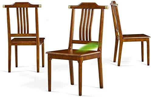 MJK Sillas de comedor, silla de cocina de madera maciza de madera ergonómica de goma para dormitorio, vestíbulo de sala...