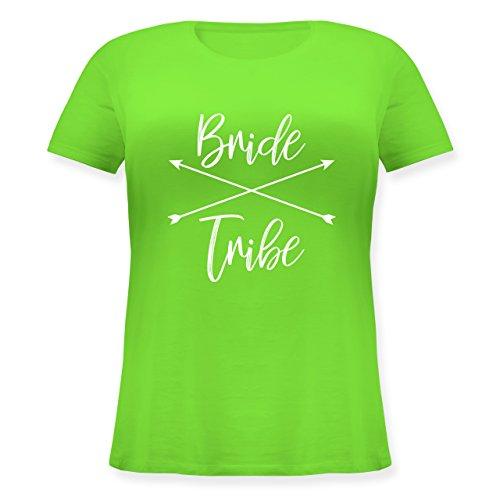 Shirtracer JGA Junggesellinnenabschied - Bride Tribe - Lockeres Damen-Shirt in Großen Größen mit Rundhalsausschnitt Hellgrün