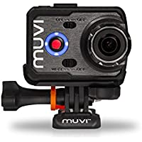 Veho VCC-006-K2NPNG Muvi K-Series K-2 NPNG 1080p Wi-Fi Handsfree Action Camera / Camcorder with 16MP Camera, Waterproof Case, Detachable Screen, 8GB Memory and Carry Case - Black