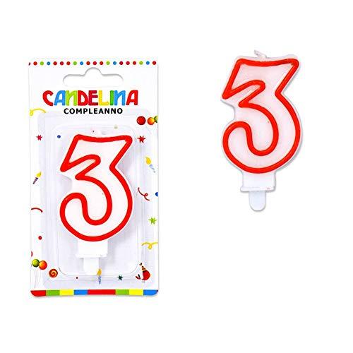 takestop® Kerzenkerze Geburtstagskerze weiß Rand rot Anzahl Kuchen Party (Und Weiß Geburtstagskerzen Rot)