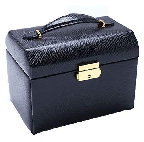 ZXKS Boîte à Bijoux tiroir à Trois Niveaux Bijoux boîte de Rangement Princesse Sac de Bijoux Portable