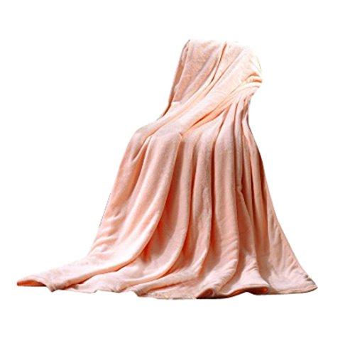 OVERDOSE Super Weiche Wärme Solide Microplush Fleece Decke Wurf Wolldecke Schlafsofa Fleece Blanket (50*70cm, A-Beige) (Weiche Flanell-bettwäsche)