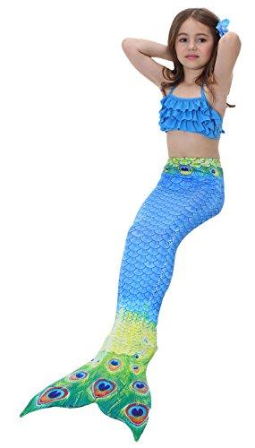 Das beste Mädchen Meerjungfrauen Bikini Kostüm Meerjungfrau Schwimmanzug Badeanzüge (Lego Kostüm Mädchen)