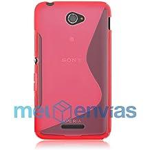Funda carcasa para SONY XPERIA E4 / E4 DUAL GEL TPU Diseño S-Line Color ROSA
