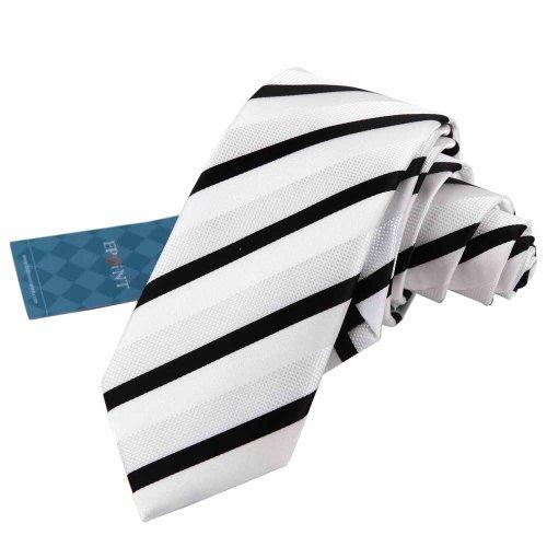 EAE1016 Comfort Sposi seta bianca per il Mens Skinny Ties personalizzati Stripes Slim cravatta By Epoint
