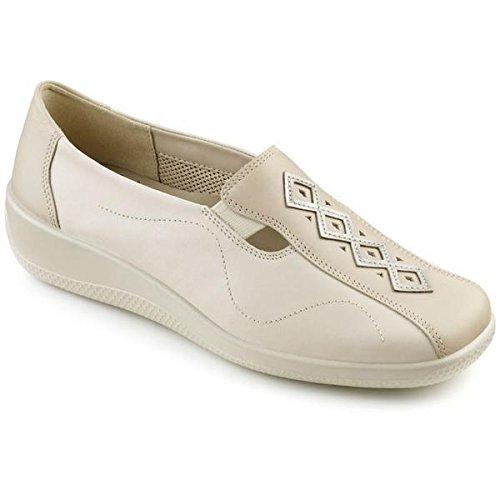 Hotter Womens Calypso Beige-Beige Snake Leather Shoe UK 7