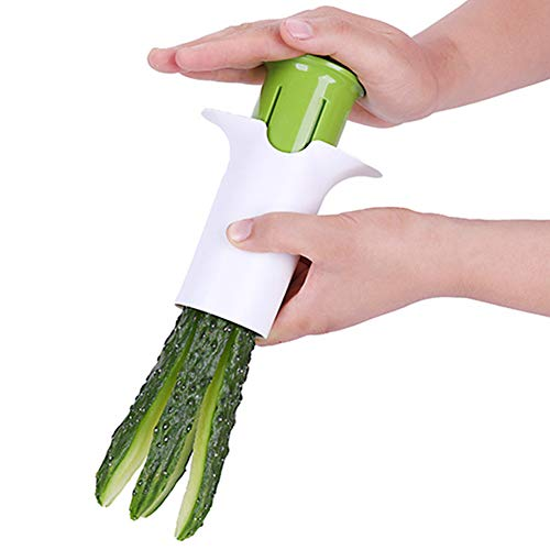 EMHU Manuelles Gurken-Scheiben-Werkzeug-Küchen-Multi Funktions-Obst und Gemüse Schneidwerkzeug