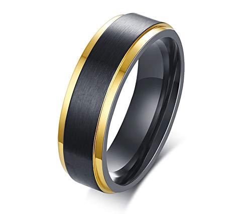SonMo 925 Silber Ringe Herren Siegelring Zum Gravieren Gebürstet Fertig Siegelring Gravur Schwarz 6Mm Eheringe 2 Stück Silber für Männer 62 (19.7)
