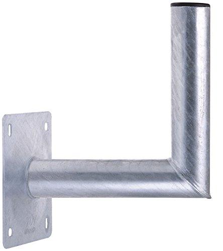 DUR-line WHSF 25cm - Stahl Wandhalter feuerverzinkt- TÜV geprüft - SAT Wandhalterung für Satellitenschüssel