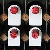 Plastique étiquettes pour goulot de bouteille de vin-Lot de 100