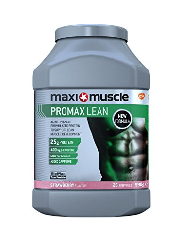 Maximuscle Promax Lean Protein Powder, Formulated to Build Lean Muscle, 990 g, Strawberry