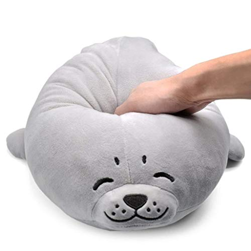 (Fcostume Anime Plüsch Seal Inu Gefüllt Weiches Kissen Puppe Cartoon Seal Niedliche Dichtung Stofftier (60CM))