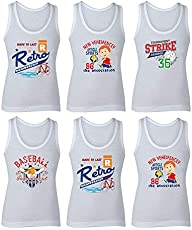 BODYCARE White Printed Boys Vests (Pack of 6)