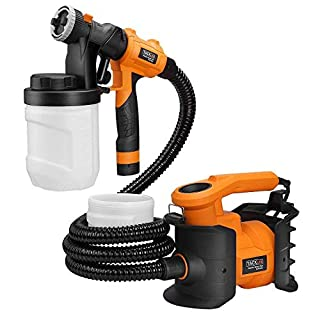 Paint Sprayer, Tacklife SGP16AC Professional 800W Spray Gun MAX Flow 1100ml/min Paint Container with 3 Copper Nozzle Sizes, 2 PCS 1200ml Detachable Containers for Painting, Varnishing, Lacquering