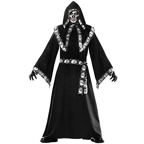 Halloween Herren Mantel Assistenten Kostüm Cosplay Kostüm Rollenspiele, Anzug, Schwarz, Eine Größe (Assistenten Kostüm Halloween)