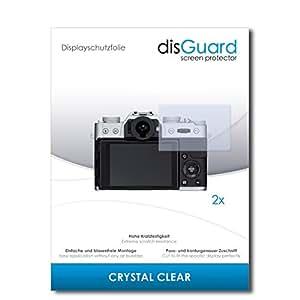 2 x disGuard Crystal Clear Film protecteur d'écran pour Fujifilm X-T10 / XT-10 / XT10 - Qualité supérieure (limpide, revêtement dur adhésif, montage sans bulles)