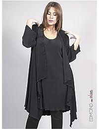 Edmond Boublil - Vêtement Femme Grande Taille Gilet Plissé Noir