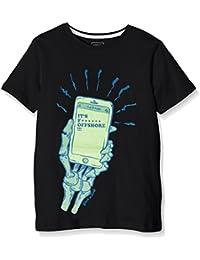 Quiksilver–Camiseta de manga corta, ssclateytofshgi, Niños, Ssclateytofshgi, antracita, Mediano/talla 12