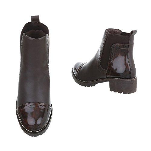 1 Design foncé Ital Bottines et bottines femme 1 Chaussures classiques Bottes Bleu K Bloc f8RWn6a6x7