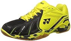 Yonex Super Ace Light Badminton Shoes, UK 8 (Light Yellow/Black)