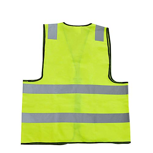 Fesjoy Reflective Vest, Warnweste für hohe Sichtbarkeit Mehrzweckweste Bright und Traffic Safety Reflectors Fluorescent Vest Polyester Traffic Safety Vest